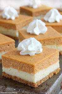 Two fall favorite desserts – pumpkin pie meets velvety cheesecake in these scrumptious pumpkin cheesecake bars. These easy to make pumpkin cheesecake bars combine two of my favorite fall desserts. Pumpkin...