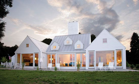 Roofline variations, windows, dormers | Architect Hugh Newell Jacobson. LOVE, LOVE, LOVE!!