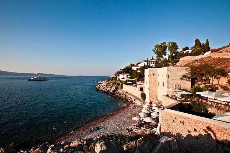 #MikroKamini Beach, #Hydra Island, #Greece. http://www.cycladia.com/travel-guides-greece/hydra-guide-tips/