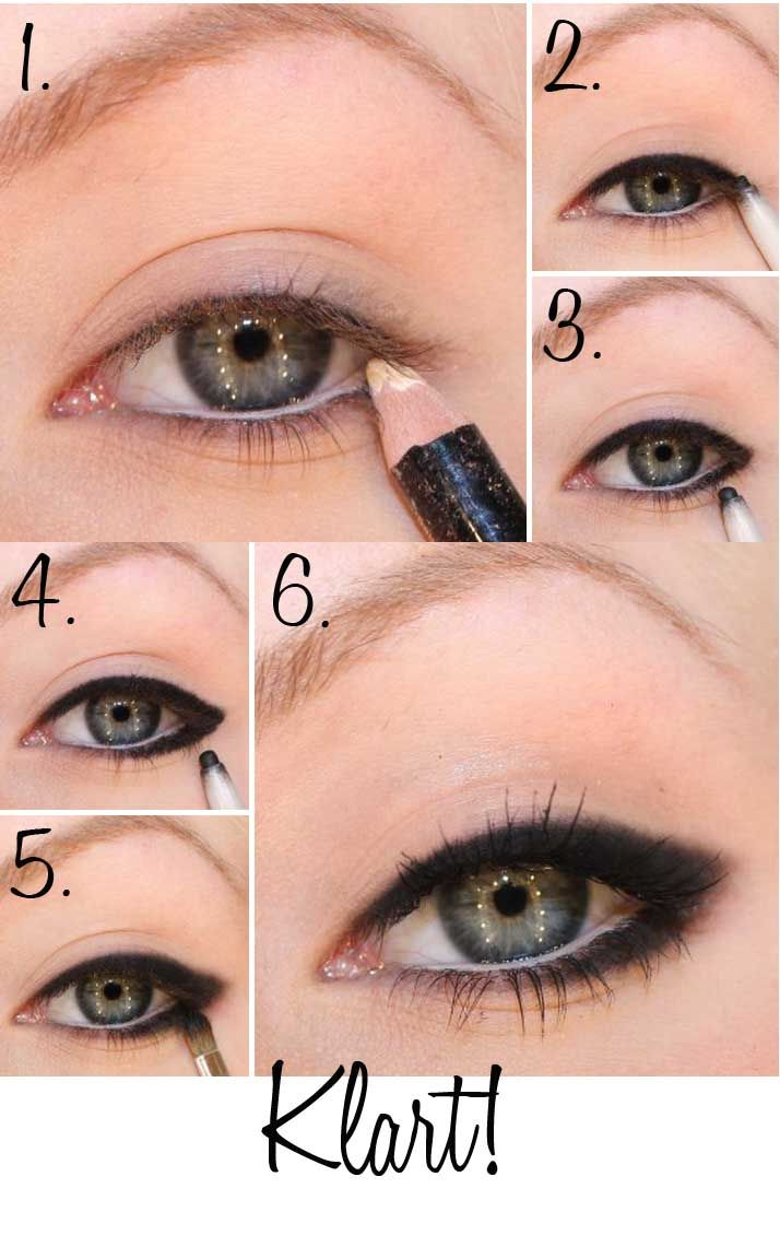 smudged eyeliner step by step