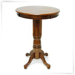 Boraam Florence Sunburst Pedestal Pub Table - Walnut