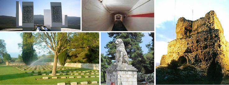 Ιστορικά μνημεία Πολεμικό Κοιμητήριο Στρούμας, Οχυρό Ρούπελ, Aκρόπολη Κουλάς , Λέων της Αμφιπόλεως