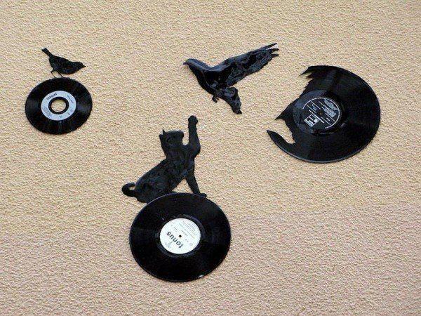 Уличный художник Kesa превращает виниловые пластинки в силуэты птиц... » Смешные Анекдоты Истории Цитаты Афоризмы Стишки Картинки прикольные Игры