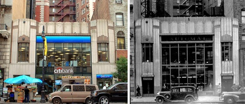 A cool now-and-then pic of a building on W. 72nd Street that used to be an Automat, courtesy of Landmarks West!. A few of their summer interns came to visit Lunch Hour NYC, where we have a restored Automat machine on display, and were inspired to write a very kind blog post. Glad you loved the exhibition!: 72Nd Street, Hardart Automat, Horns, Restoration Automat, Lunches Hour, Lunches Time, Now And Then, New York, Automat Machine