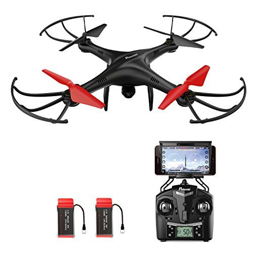 Potensic Drone con Telecamara, U48WH Actualizado WiFi FPV 2.4Ghz 4CH 6-Axis Gyro RC Exlorers Hover Drone Dron Quadcopter Videocamara 720P HD Camara, Headless Mode, 3D Flips Helicóptero - http://www.midronepro.com/producto/potensic-drone-con-telecamara-u48wh-actualizado-wifi-fpv-2-4ghz-4ch-6-axis-gyro-rc-exlorers-hover-drone-dron-quadcopter-videocamara-720p-hd-camara-headless-mode-3d-flips-helicoptero/