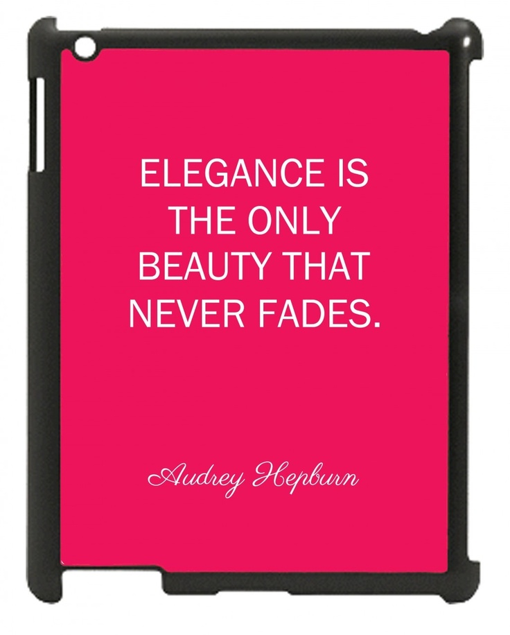 Wordon.com.au - Elegance is Beauty Audrey Hepburn iPad Mini Case, $22.95 (http://www.wordon.com.au/products/elegance-is-beauty-audrey-hepburn-ipad-mini-case.html)