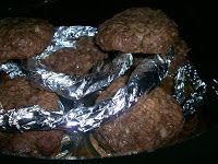 """Pin It      """".....and you made hamburger patties in the crock pot? THESE hamburger patties?""""  """"Yes, yes I did.""""  """"Amazing!""""  All I could do ..."""