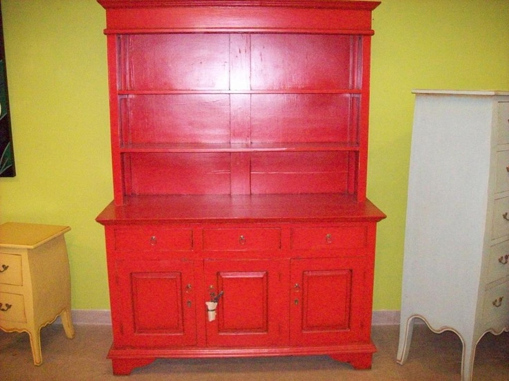 Kitchen Hutch In Red (CA065B PL) $555 58w 23d 79h