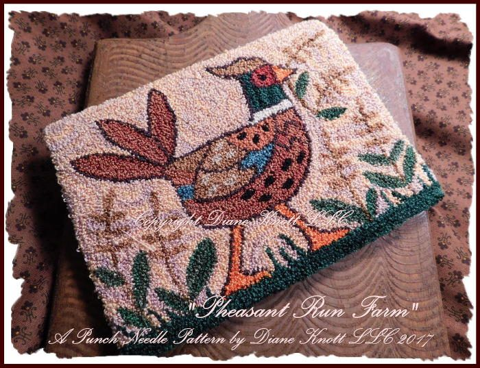 Pheasant Run Farm Punch Needle Pattern Download by Diane Knott LLC by DianeKnottLLC on Etsy