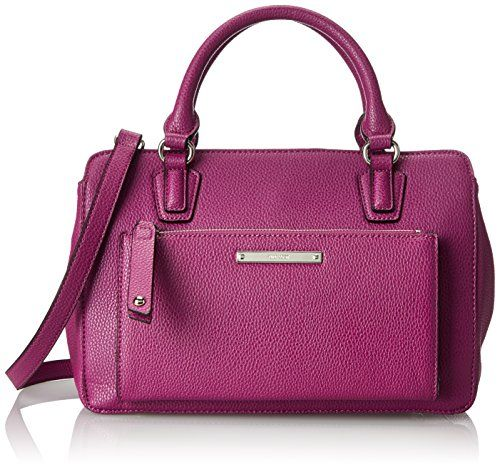 Nine West Zip N Go Satchel Top Handle Bag Top-Handle Bags Product Features  Pockets