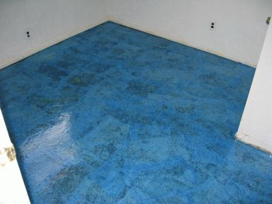 Paper Bag Floor / Faux Flooring-Walls and Ceilings - so diving this for our bedroom! Goodbye ugly beige carpet!