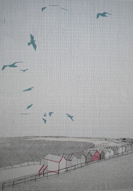 Whitstable Beach Huts by Clare Halifax, via Flickr