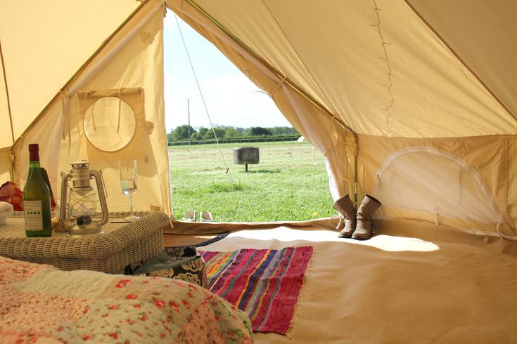 Canvas And Clover Glamping Inside Tent Camping ListCamping PlacesFamily