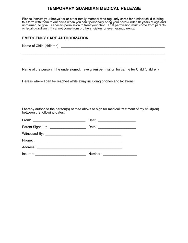 Child Medical Consent Form. Medical Consent Form Would Your