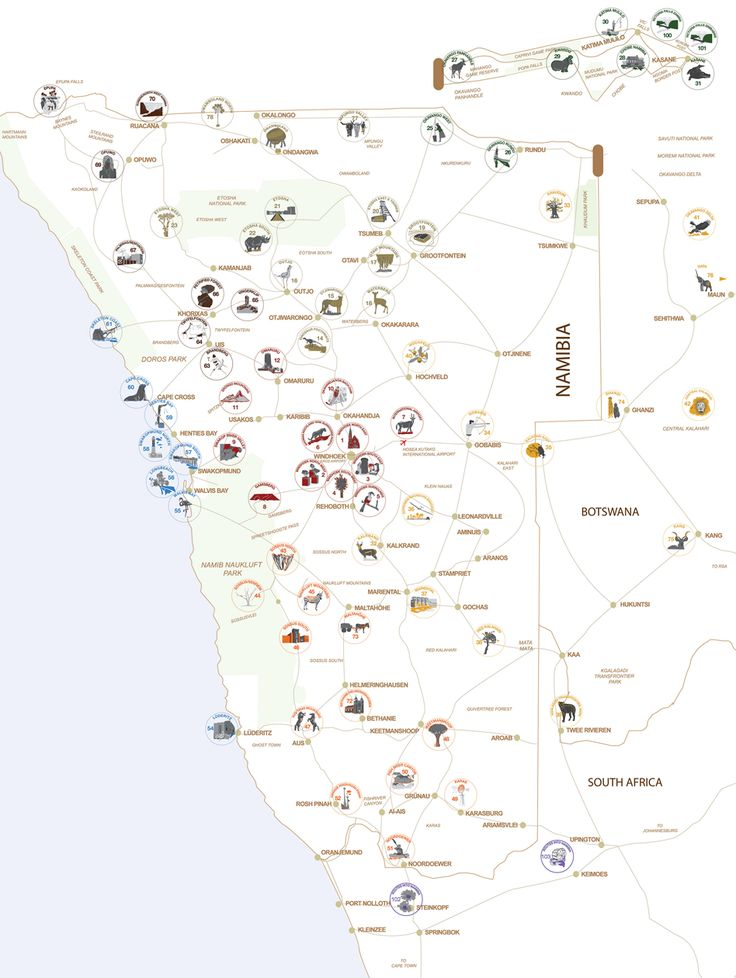 Wheretostay Namibia: Travel Planner & Routes into Namibia