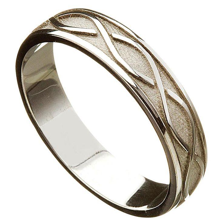 Irish Wedding Ring - Celtic Twist Mens Wedding Band