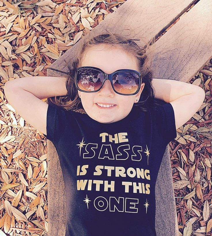 Any mom of girls knows this saying too well. The sass is strong with these little girls. Star Wars fans are for little ladies also! Crunchy Cuts shirts are made in the USA and all tops are a unisex fi