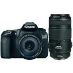 Canon  EOS 60D Digital SLR Camera with EF-S 18-135mm f/3.5-5.6 IS and EF 70-300mm f/4-5.6 IS USM Lens