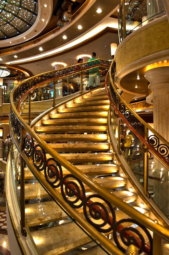 The decor on cruise ships never fails to amaze me. I love cascading down stairwells in my fancy evening wear, I feel like a princess! #PrincessCruises #Travel