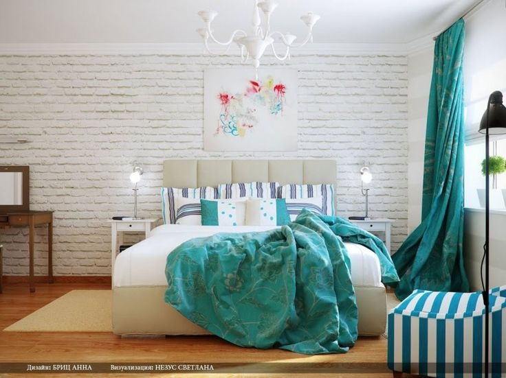 Cool Turquoise White Bedroom Decorations By Svetlana Nezus