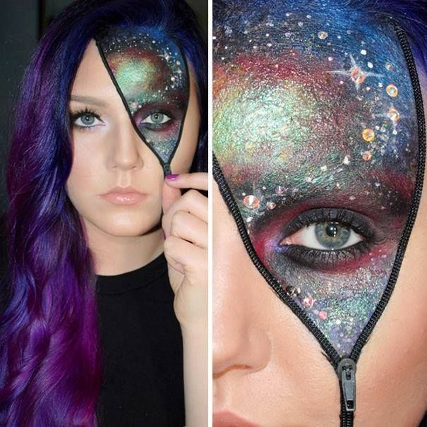 Cool take on the zipper face look   https://www.facebook.com/IFeakingLoveScience/photos/a.456449604376056.98921.367116489976035/961749550512723/?type=1