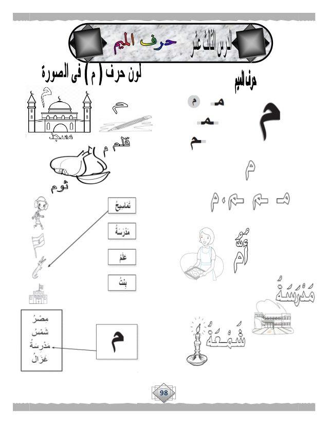 بوكلت تدريبات اللغة العربية للصف الأول الابتدائى الجديد للترم الأول 2 Arabic Alphabet For Kids Alphabet For Kids Arabic Kids