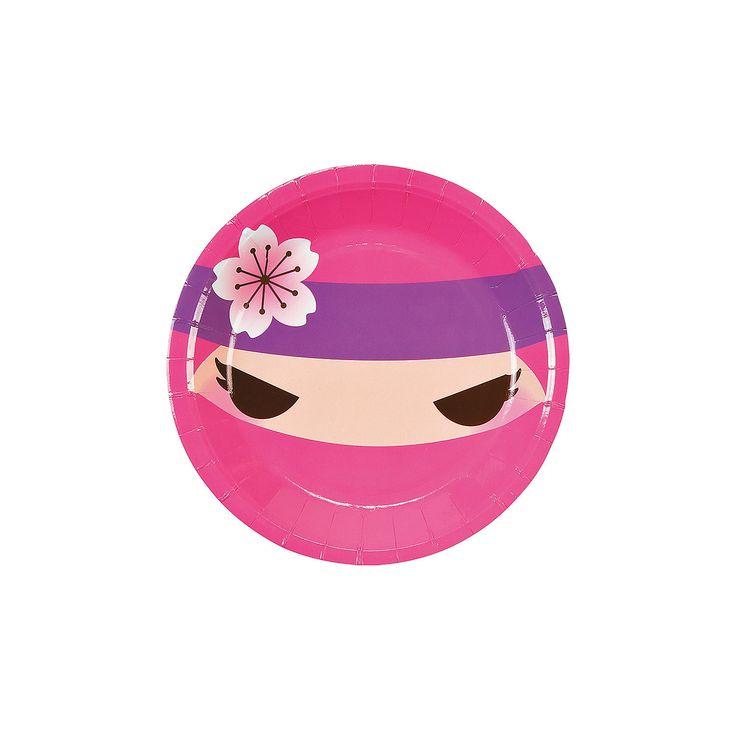 Ninja Girl Dessert Plates - OrientalTrading.com