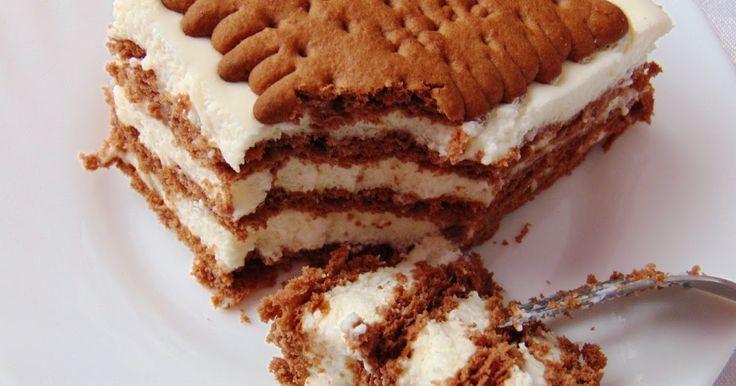 Proste ciasteczko bez pieczenia.        Składniki:   herbatniki kakaowe 300 g   śmietana 30 % 400 ml   mleko zagęszczone słodzone 100 ml (l...