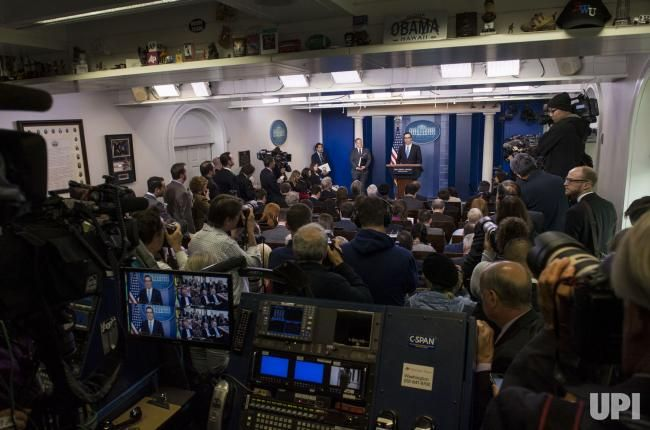 Treasury Secretary Steven Mnuchin speaks on the recent new U.S.sanctions on Syria, during the White House Daily Briefing at the White House…