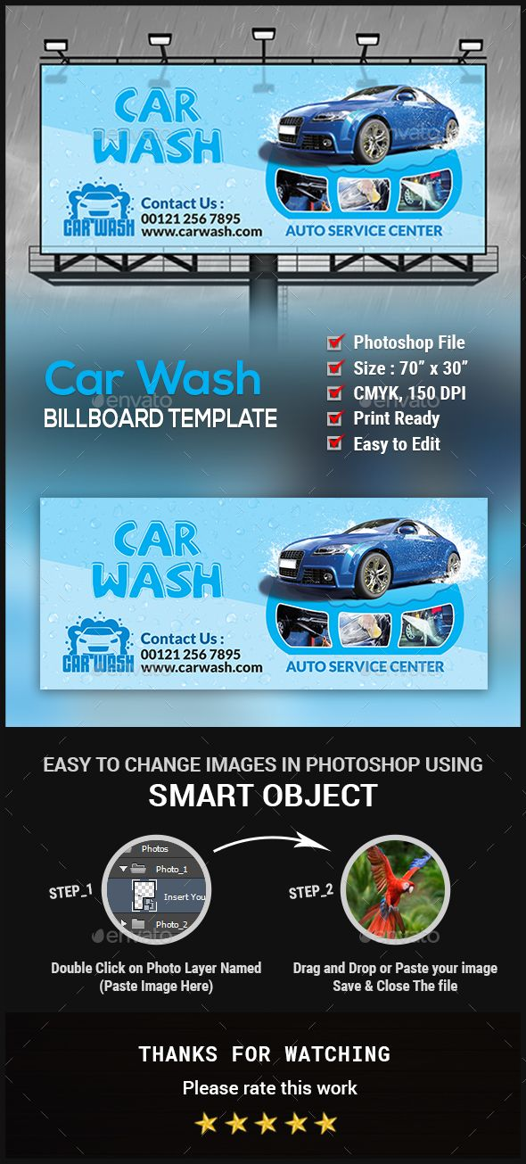 461 best Billboard Templates images on Pinterest - auto detailing flyer template