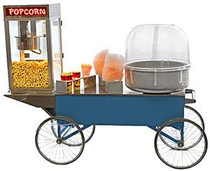 Gold Medal Double Cart Combo - WITH POPCORN AND CANDY FLOSS MACHINES GM #3150CP