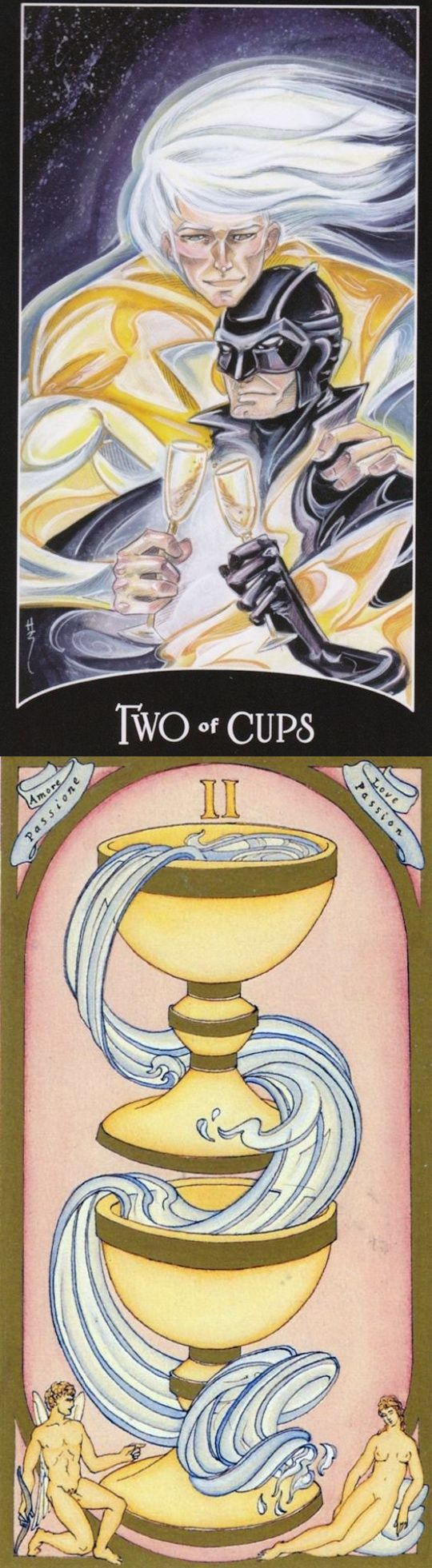 Two of Cups: unity and imbalance (reverse). Justice League Tarot deck and Renaissance Tarot deck: tarot velvet bag, ask free astrology question instant answer vs tarot card reading in hindi 2016. Best 2017 goth girl and lenormand cards decks. #androidgame #android #skeleton