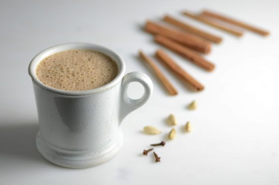 This frothy Paleo Chai Latte Recipe (similar to chai tea, or a chai latte) is packed with protein from eggs, and full of fabulous fat from coconut oil.