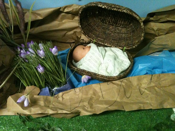 Moses in his basket.  Wilderness Escape VBS. gbcsemmes.com