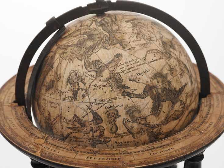 This celestial globe was made in the early 1600s by famed Dutch cartographer Willem Blaeu.  BRITISH LIBRARY