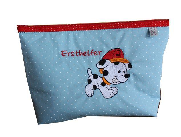 Kulturbeutel für Kinder- Notfalltasche von sweet things by max und moritz auf DaWanda.com