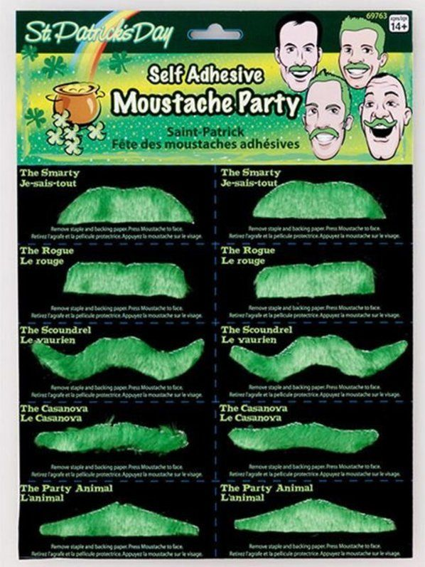 Check out Self Adhesive Green Moustache Set - Beard & Moustache Accessories from Wholesale Halloween Costumes