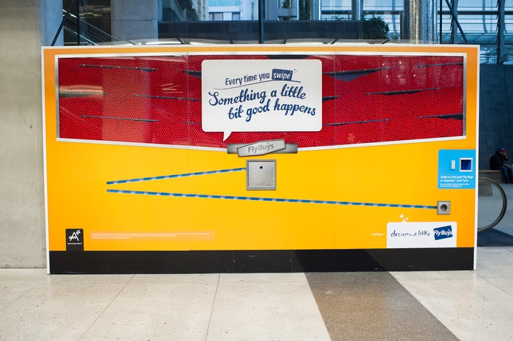 We made a giant Giant Jaffa dispensing machine at Britomart in Auckland! Swipe your Fly Buys card and get a Giant Jaffa!