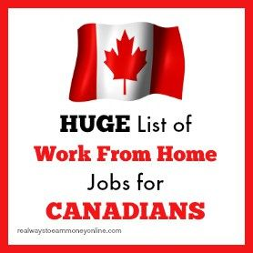 Big list of work from home jobs and resources for people in Canada.