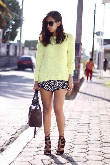Zara Knit, Makun Tribal Shorts, Zara Heels