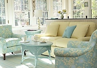 So soft and fresh-a lovely outdoor room