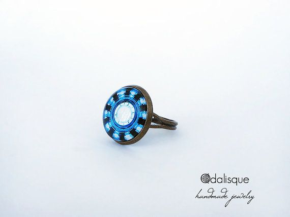 Arc Reactor Ring Adjustable Iron Man Ring Tony by OdalisqueShop