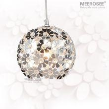 Bela prata do candelabro de cristal luminária de alumínio suspensão de cristal…