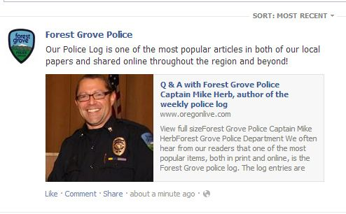 Meet the guy behind the Forest Grove Police Log I post on here a lot.