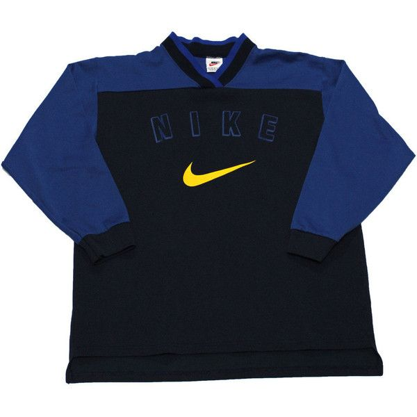 Vintage 90s Nike Hockey Jersey Shirt Made In USA Mens Size Small 30 Liked On Polyvore Featuring Fashion Clothing Shirts