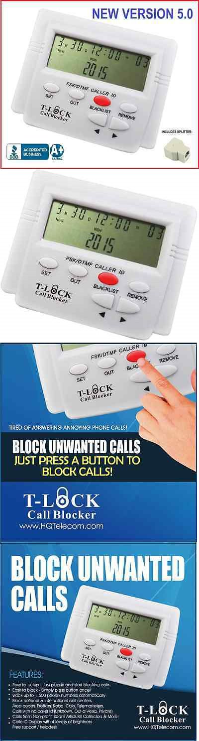 Caller ID Devices: T-Lock Call Blocker - Block Telemarketers, Robo Calls, Nuisance, Scams, Frauds -> BUY IT NOW ONLY: $54.99 on eBay!