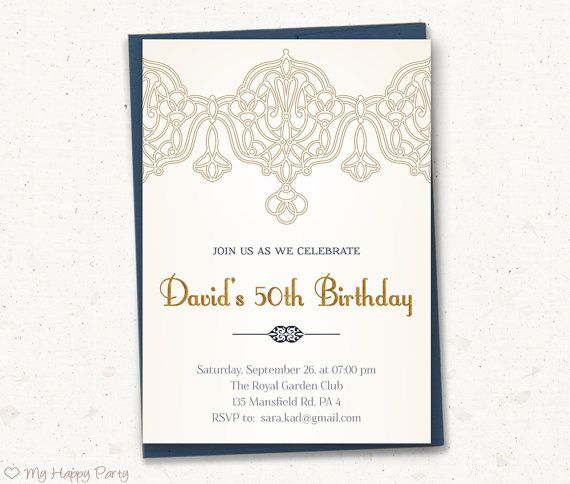 17 Best images about Adult Birthday Invitation – Royal Garden Party Invitation