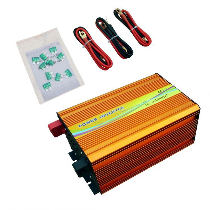 ECO-SOURCES 3000W Inverter 24V to 220V Off Grid Inverter 3KW 220V  Inverter for Solar Panel Solar System