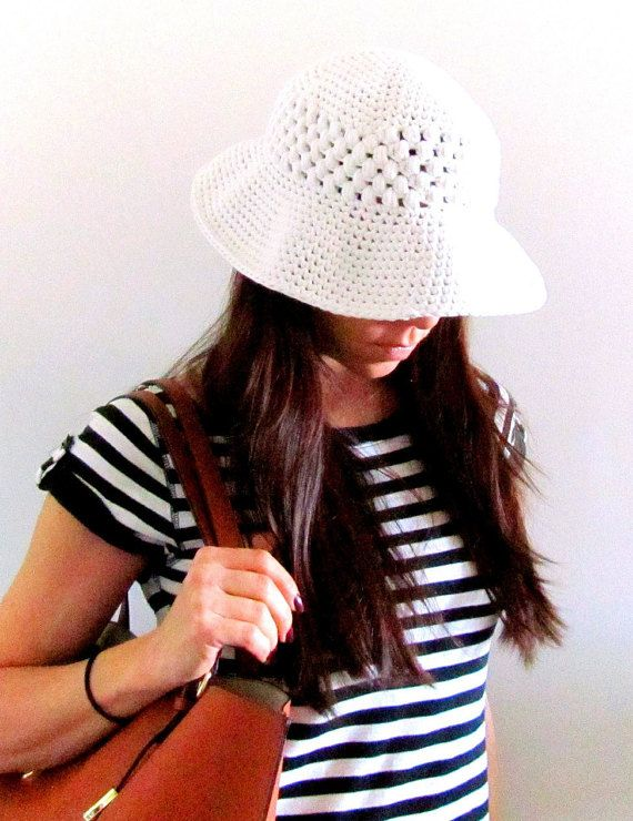 PATTERN ONLY Wide Brim Sun Hat Crochet Pattern PDF by chezpascale