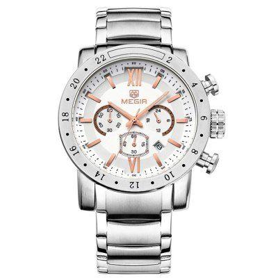MEGIR 3008 Japan Quartz Male Watch Date Function Wristwatch-21.89 and Free Shipping| GearBest.com